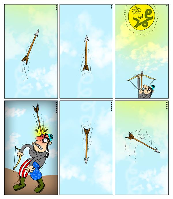 صهیونیسم+اسرائیل+آمریکا+توهین به پیامبر حضرت محمد+فیلم موهن+کاریکاتور+داستان مصور